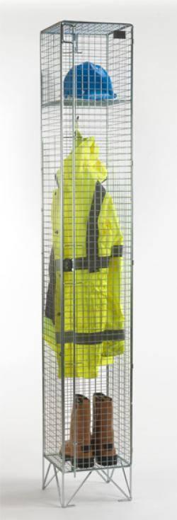 Wire Mesh Lockers - 1 Door 457mm Deep Warehouse Ladder