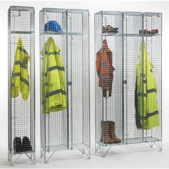 Wire Mesh Lockers - 1 Door 457mm Deep Cage