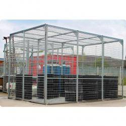 External Storage Cage - Galvanised