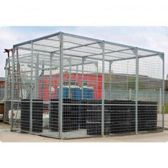 External Storage Cage - Galvanised - UK800296 Warehouse Ladder