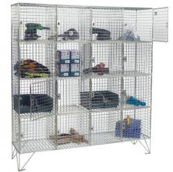 16 Compartment Wire Mesh Locker