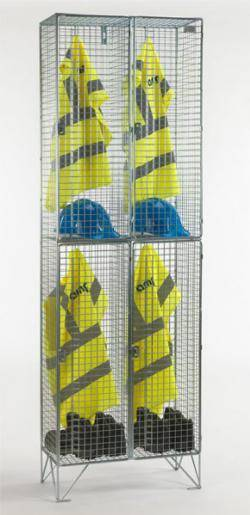 Wire Mesh Lockers - 2 Door 457mm Deep Warehouse Ladder