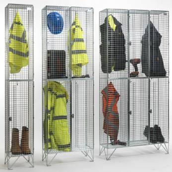 Wire Mesh Lockers - 2 Door 457mm Deep Cage
