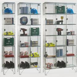 Wire Mesh Lockers - 6 Door 305mm Deep