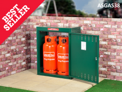 Gas Storage Cage - 2 x 19KG Propane Cage - Calor Approved