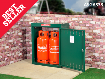 Gas Storage Cage - 2 x 19KG Propane Cage - Calor Approved   Cage