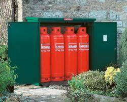 Gas Storage Cage - 4 x 47KG Propane Cage - Calor Approved