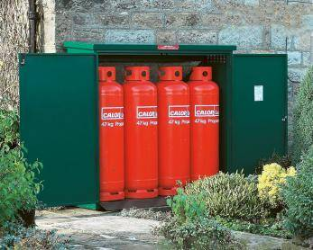 Gas Storage Cage - 4 x 47KG Propane Cage - Calor Approved Cage
