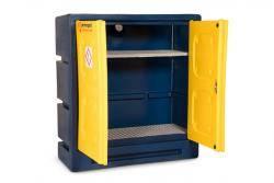 Armorgard Chemcube Cabinet - Plastic Hazardous Storage Cabinet Warehouse Ladder