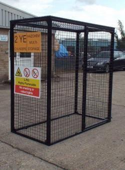 Britgas Gas Bottle Cage - 10 x 47kg Cylinder Storage WGC35 - H1800 x W1800 x D900mm