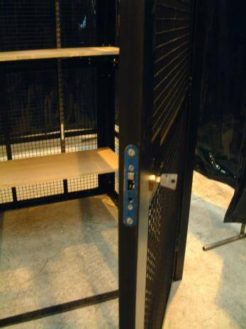 Knox High Security Cages (Single Width) - SC2141 - W2100xD4100xH2050mm Warehouse Ladder