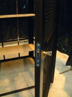 Storage Cage - High Security Cages (Single Width) Warehouse Ladder
