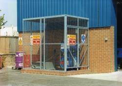 Eurocage Mesh Security Cage - Galvanised - Two Sided 2440x2440x2440mm IPO-006 Warehouse Ladder