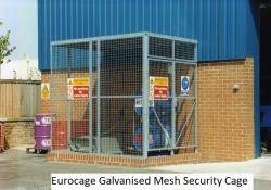 Eurocage Mesh Security Cage - Galvanised - Three Sided 2440x4880x2440mm IPO-016 Warehouse Ladder