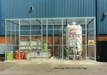 Eurocage Mesh Security Cage - Painted Cage