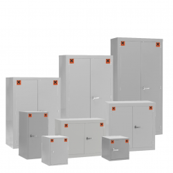 COSHH Hazardous Material Storage Cabinets Light Grey