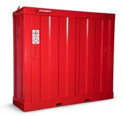 Armorgard Flamstor Cabinet - Hazardous Substance Storage Cabinet Warehouse Ladder