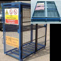 Folding Gas Storage Cage 1580x760x1650 (WxDxH) mm