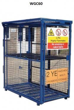Folding Gas Storage Cage 1580x760x1650 (WxDxH) mm Warehouse Ladder