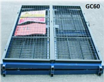Folding Gas Storage Cage 1580x760x1650 (WxDxH) mm Cage