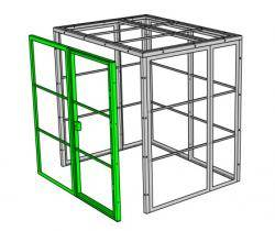 Secure Metal Cage - The Fortress Premium Quality High Security Cage Kit Warehouse Ladder