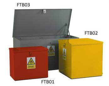 Hazardous Bins - Flat Top Cage