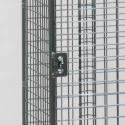 Wire Mesh Lockers - 3 Door 305mm Deep