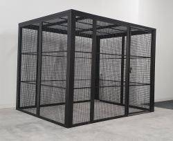 The Fortress Premium Quality High Security Cage Kit - 2.6m Extra Wide KIT08W W2600 x D5100 x H2100mm