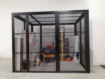 The Fortress Premium Quality High Security Cage Kit - 2.6m Extra Wide Warehouse Ladder