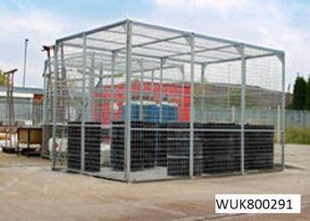 External Storage Cage - Galvanised Cage