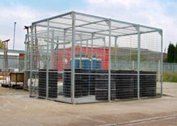 External Storage Cage - Galvanised - WUK800296 Cage