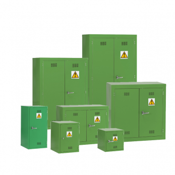 Pesticide Chemical Hazardous Materials Storage Cabinet - Green Cage