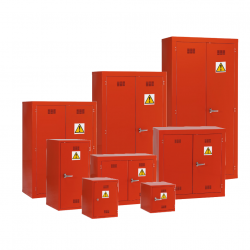 Pesticide Chemical Hazardous Materials Storage Cabinet  - Red Warehouse Ladder