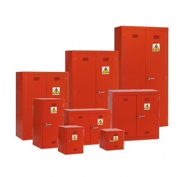 Pesticide Chemical Hazardous Materials Storage Cabinet  - Red Cage