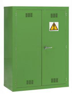 Pesticide Chemical Hazardous Materials Storage Cabinet - Green Warehouse Ladder