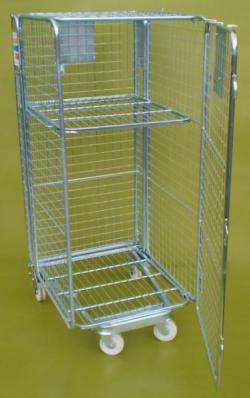 Roll Pallet - Roll Cage- Full Security (Qty 4) Warehouse Ladder