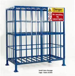 Cylinder Storage Cages Warehouse Ladder