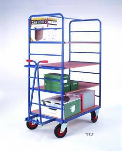 Heavy Duty Steel Shelf Trucks Warehouse Ladder