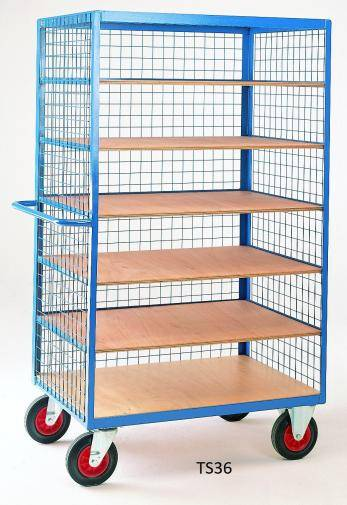 Heavy Duty Steel Shelf Trucks  TS36 Cage