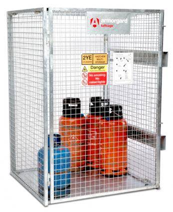 Armorgard Tuffcage One Piece Folding Gas Cylinder Storage Cage Cage