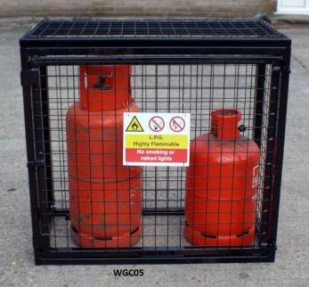 gas bottle cage medium cylinder range wgc05 cage - Gas Cylinder Cages