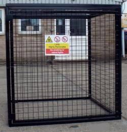 Gas Bottle Cage - Medium Cylinder Storage Warehouse Ladder