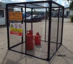 Gas Bottle Cage - Large Cylinder Storage Warehouse Ladder