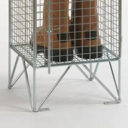 Wire Mesh Lockers - 1 Door 305mm Deep Warehouse Ladder