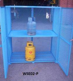 Expanded Mesh Security Cages Warehouse Ladder
