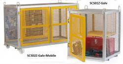 Fully enclosed Expanded Mesh Security Cages Warehouse Ladder