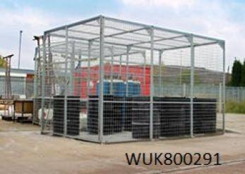 External Storage Cage - Galvanised - WUK800296 Cage